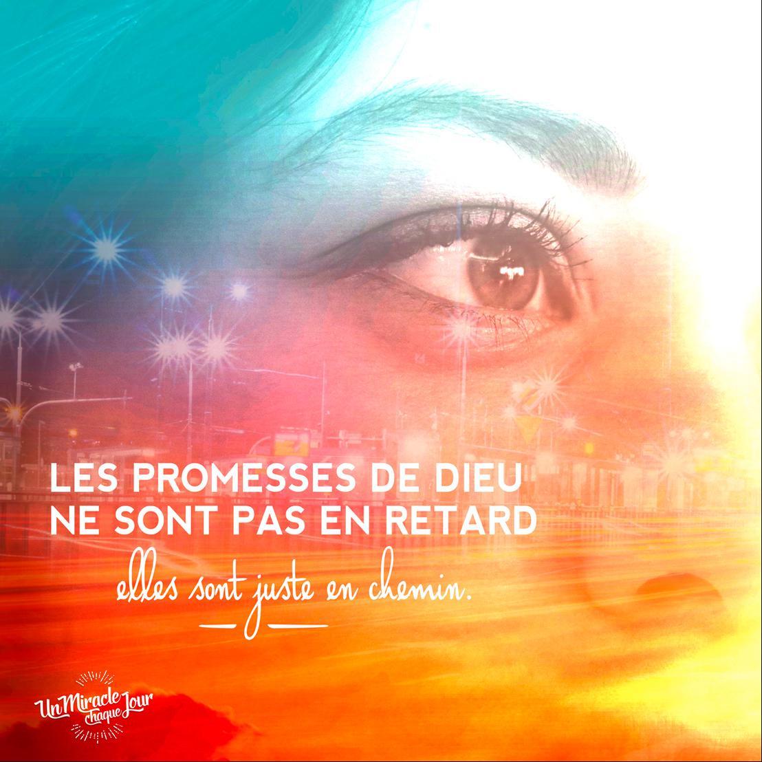 Les promesses de Dieu sont en chemin pour vous Mon ami(e)