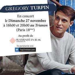 Concerts de Grégory Turpin en faveur des chrétiens d'Irak