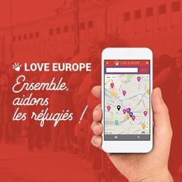 """Lancement de l'application """"Love Europe"""""""