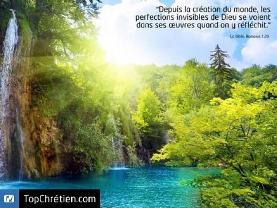 La création, merveille de Dieu