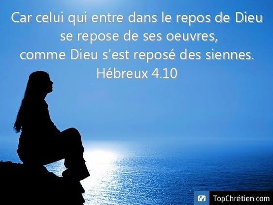 Hebreux 4:10