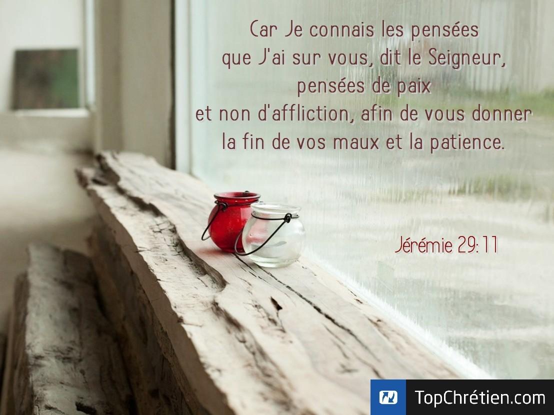 Jérémie 29:11