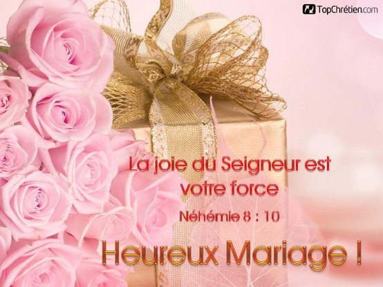 heureux mariage de TopChrétien - Carte virtuelle - Mariage — TopChrétien
