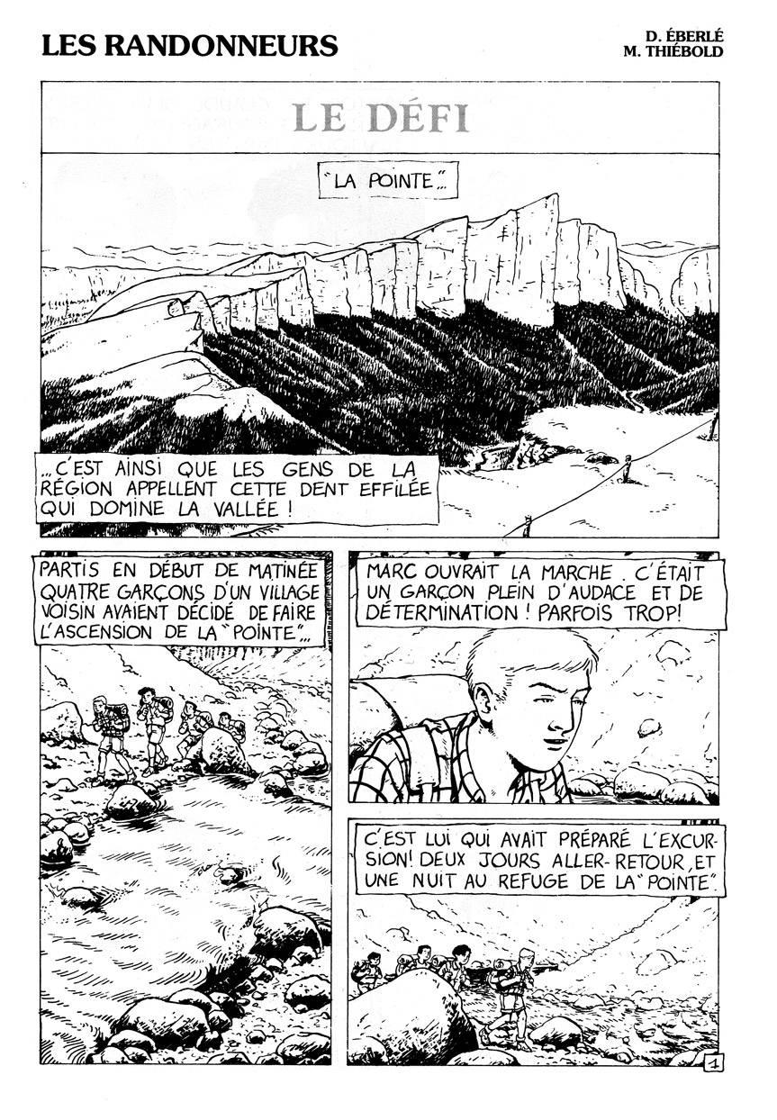 Les randonneurs - page 1