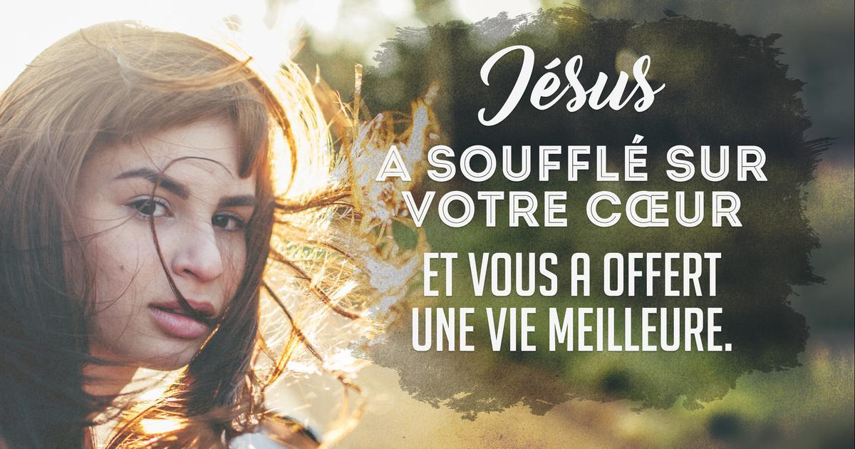 Jésus souffle sur votre cœur ❤️