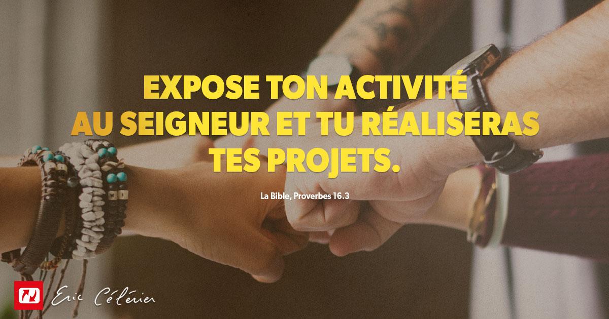 Mon ami(e), invitez Dieu dans vos projets !
