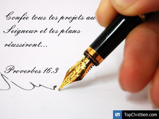 Proverbes 16:3