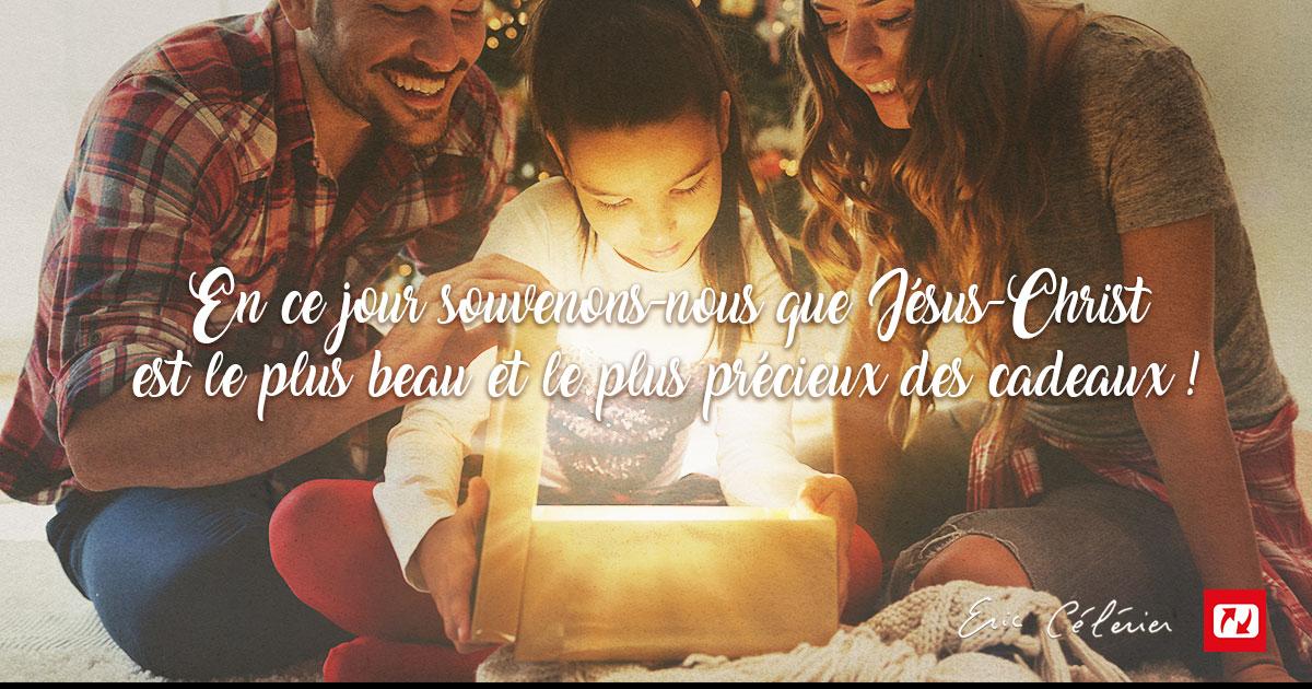 Mon ami(e), le plus beau des cadeaux c'est Jésus !