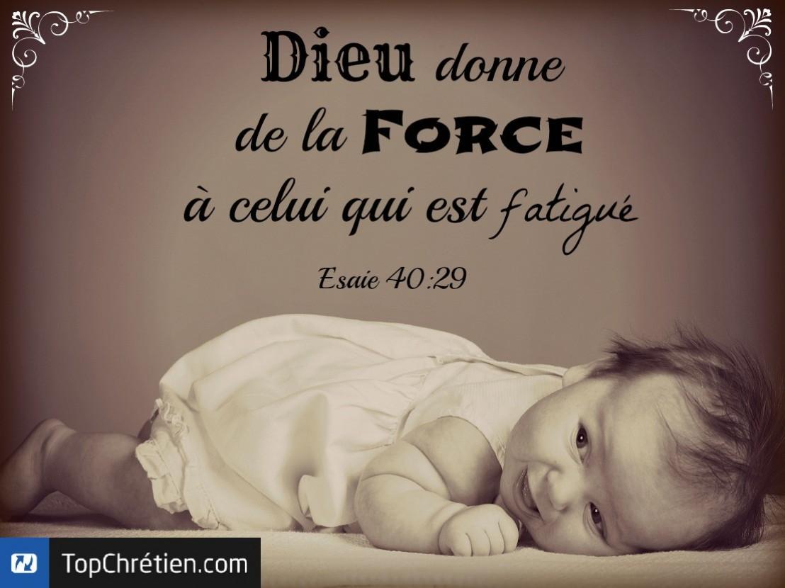 Esaïe 40:29