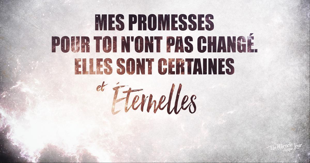 Mon ami(e), je n'ai pas oublié mes promesses pour toi...