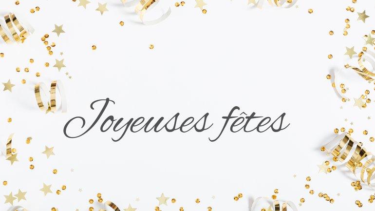 Toute l'équipe vous souhaite de Joyeuses fêtes de fin d'année 💗