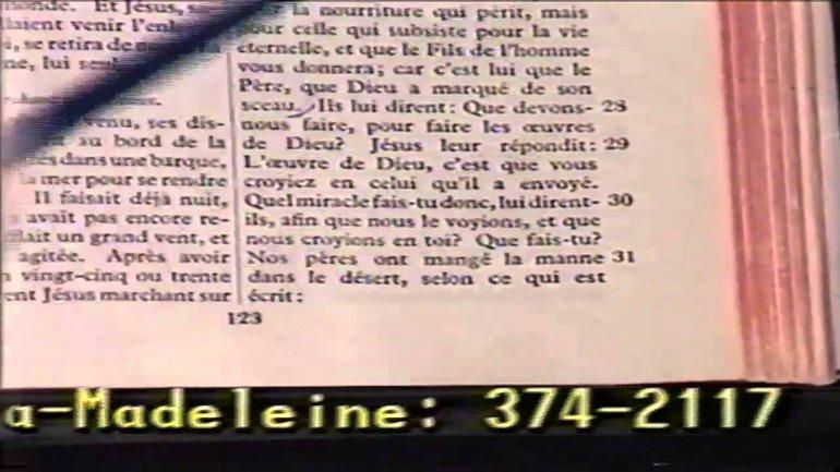 Fernand Saint-Louis - Les gens cherchent un signe - Jean 6:28-48