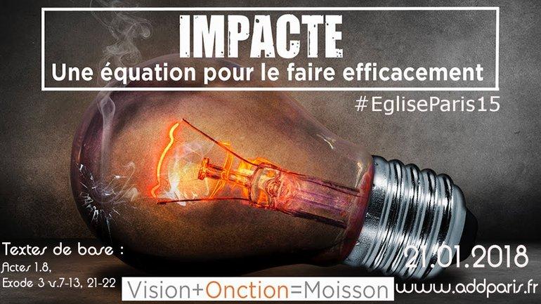 Impacte, une équation pour le faire efficacement - Pasteur LIKIBI Andoche