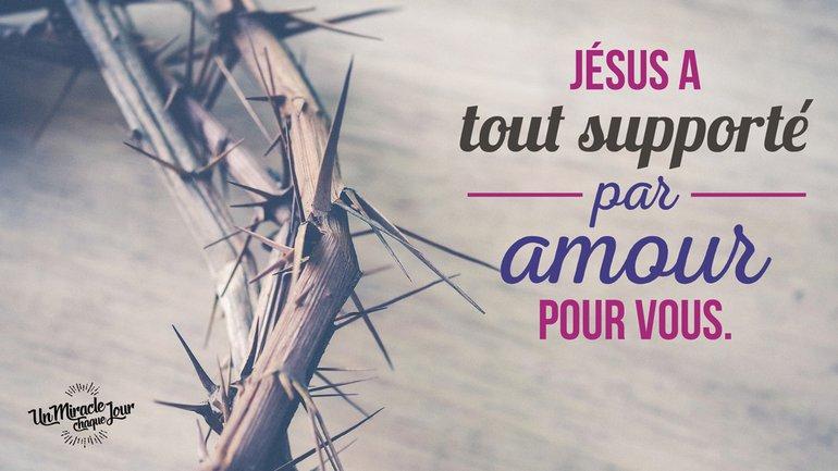 Jésus vous ouvre les bras, Mon ami(e) !
