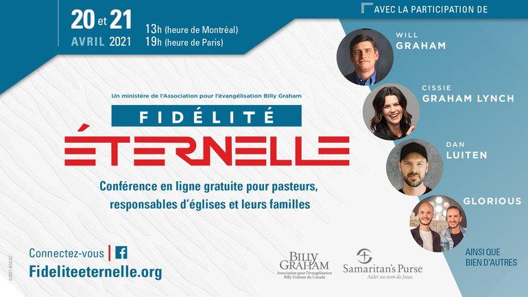 CONFERENCE EN LIGNE Fidélité Eternelle les 20 et 21 avril prochains !