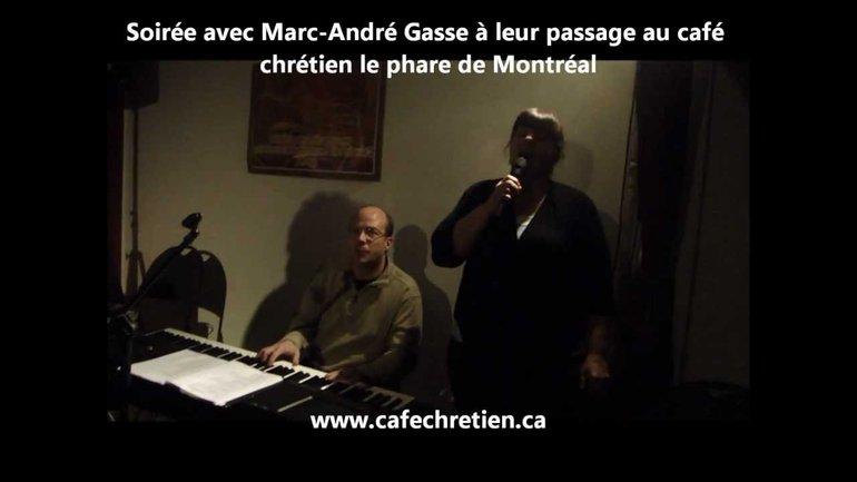 Soirée avec Marc-André Gasse au café chrétien le phare