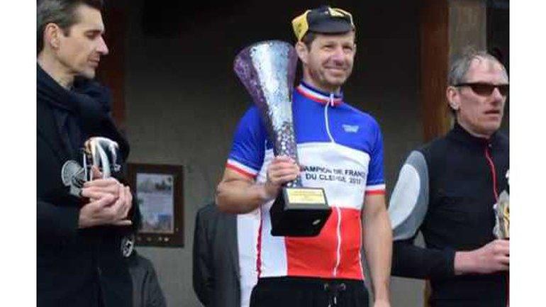 Mario Naccarato , remporte le championnat de France cyclisme sur route du clergé  2018 à Sully sur Loire