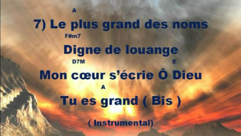 Combien Dieu est grand (instrumental)