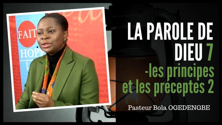 Olivia Bola Ogedengbe - Les principes et les préceptes (2)