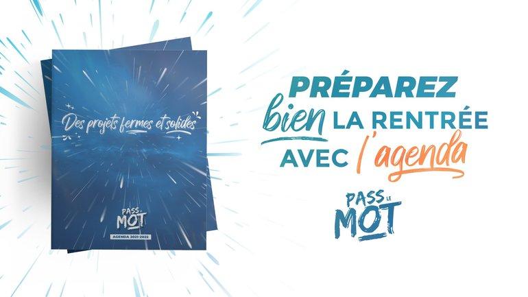 Après le SMS quotidien, voici l'agenda PassLeMot ! 📱📅📘