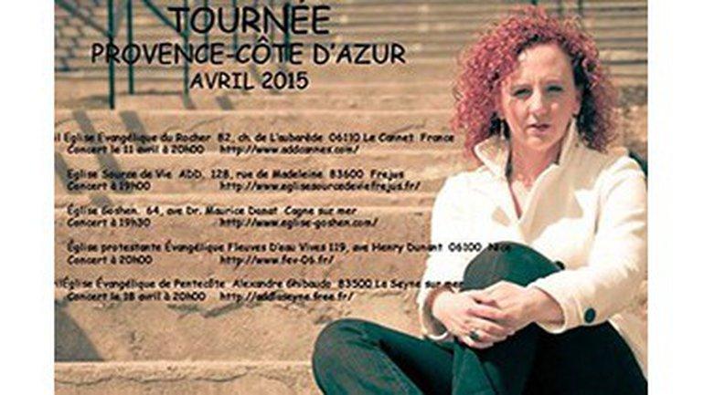 Chantal Labelle en tournée du 11 au 19 Avril 2015 en PROVENCE – CÔTE D'AZUR