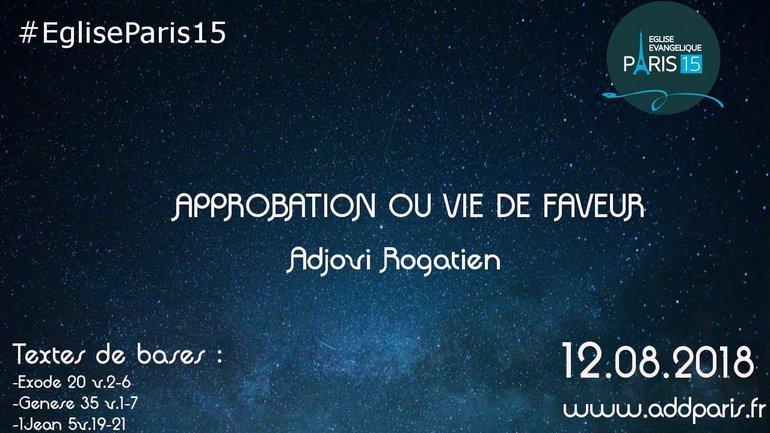 Approbation ou vie de faveur - Rogatien ADJOVI