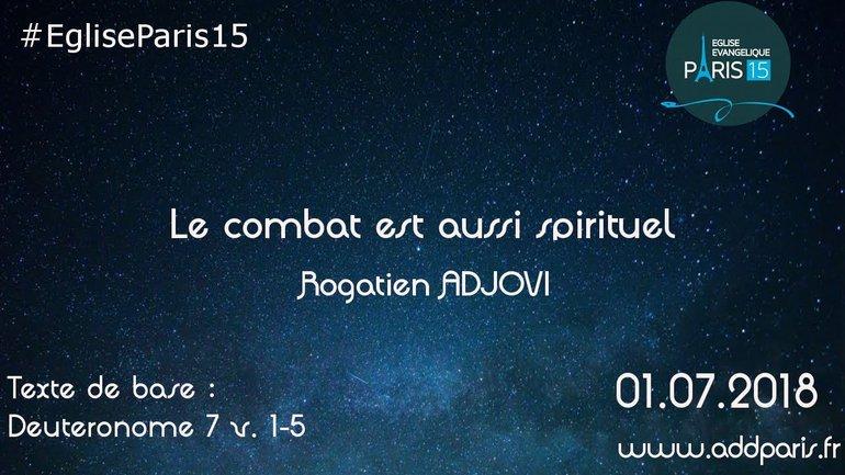 Le combat est aussi spirituel - Rogatien ADJOVI
