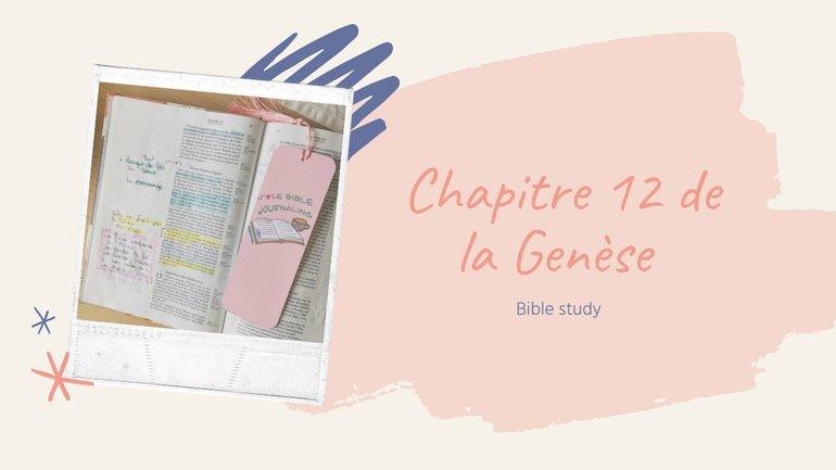 Etudie la Bible avec moi -Genèse 12 #BibleStudy