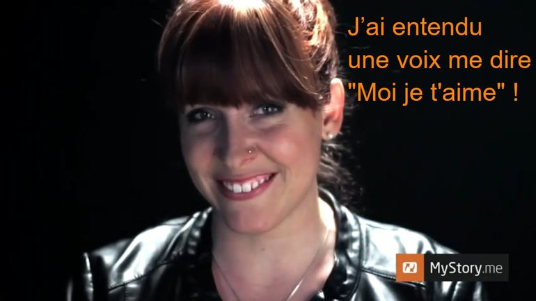"""MyStory - Andréanne Lafleur : J'ai entendu une voix me dire """"Moi je t'aime !"""""""