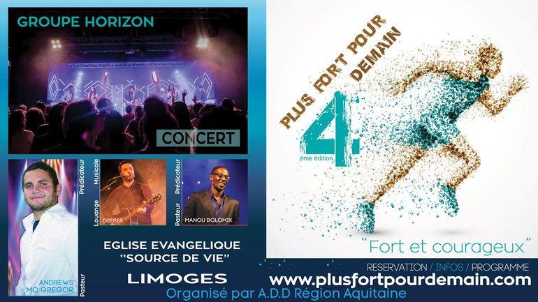 Rassemblement PLUS FORT POUR DEMAIN 4 à Limoges