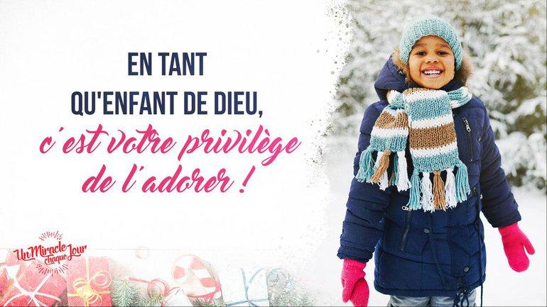 Noël : priorité à la louange !
