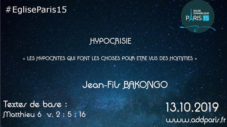 Hypocrisie - Jean-Fils BAKONGO