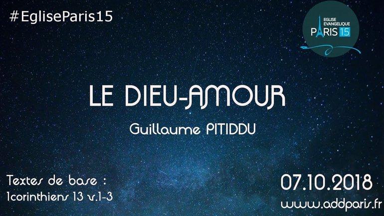 Le Dieu-Amour - Guillaume PITIDDU Pasteur