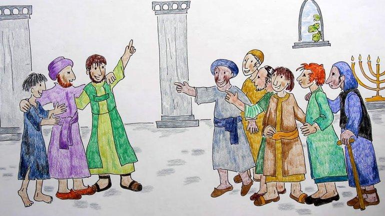 Pierre et Jean au temple