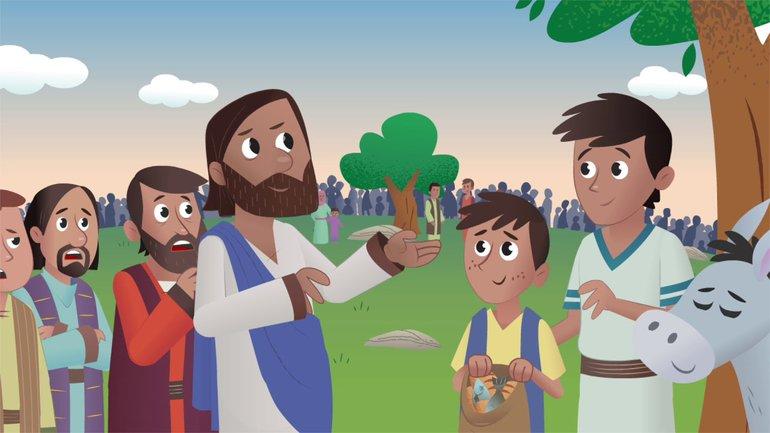 Le grand pique-nique - La Bible App pour les Enfants - Histoire 27