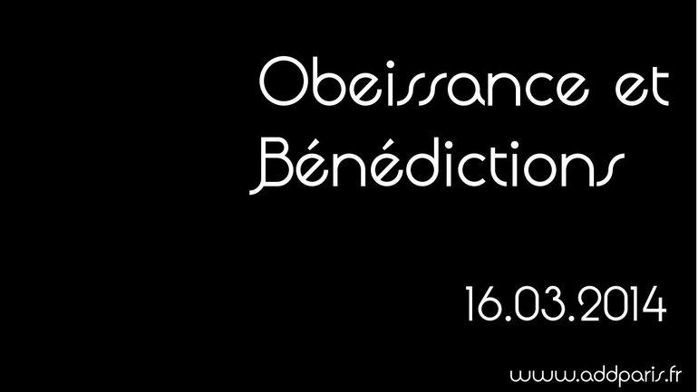 Obéissance et bénédictions