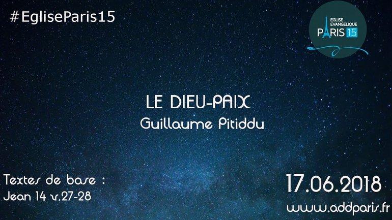 Le Dieu-paix - Guillaume Pitiddu