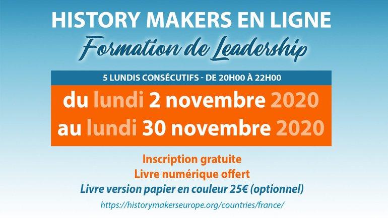 👩🎓 👨🏻🎓 C'est cadeau ! 🎁 Formation au Leadership avec History Makers !