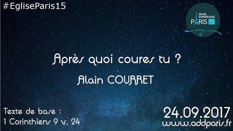 """""""Après quoi coures tu ?"""" par Alain COURRET"""