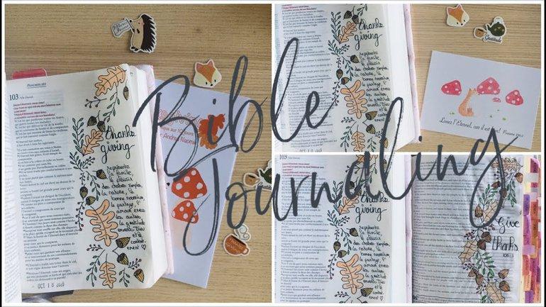 Tutoriel de Bible Journaling - Thanksgiving