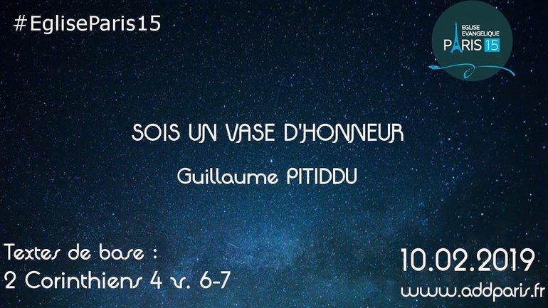 Sois un vase d'honneur - Pasteur Guillaume PITIDDU