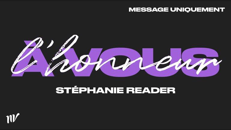 Talk-show et message | À vous l'honneur | Stéphanie Reader