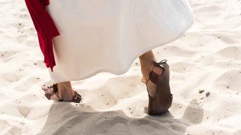 Les pieds du Seigneur Jésus