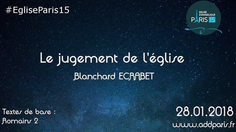 Le jugement de l'église - Blanchard ECRABET