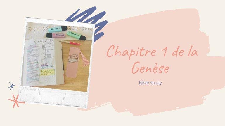 Etudie la Bible avec moi: Genèse Chapitre 1 #BibleStudy