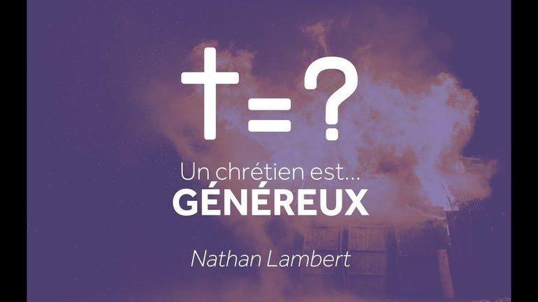 Un chrétien est... généreux