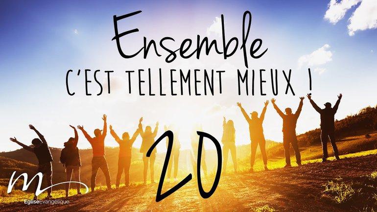 Ensemble Méditation 20 - Matthieu 28.19-20, Marc 16.15, Luc 24.47, Jean 20.21, Actes 1.8 - Église M