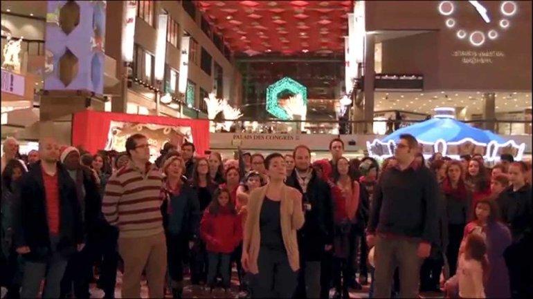 Flashmob de Noël au Complexe Desjardins 6 décembre 2014