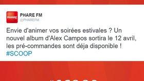 SCOOP – Alex Campos : Un nouvel album pour le 12 avril !