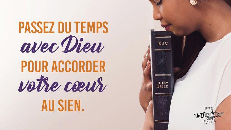 Accordez votre cœur à celui de Dieu, Mon ami(e) 💗
